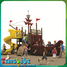 HSZ-KP5066B children playsets outdoor with plastic slide, outdoor playground equipments