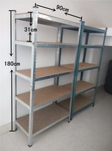 5 Tier Wire supermarket <strong>shelf</strong> gray coating Adjustable Steel Metal <strong>Shelf</strong>