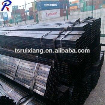 Black hollow square steel tube