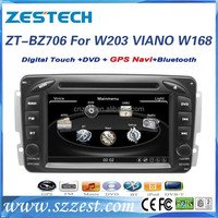 Zestech Factory 2 din car radio with navigation china for Mercedes Benz C class W203/c180/w168/viano/CLK C209 CD DVD GPS Audio