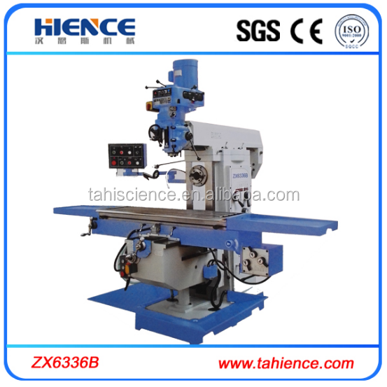 3 axis automatic feed Taiwan spindle universal radial milling machine ZX6336B