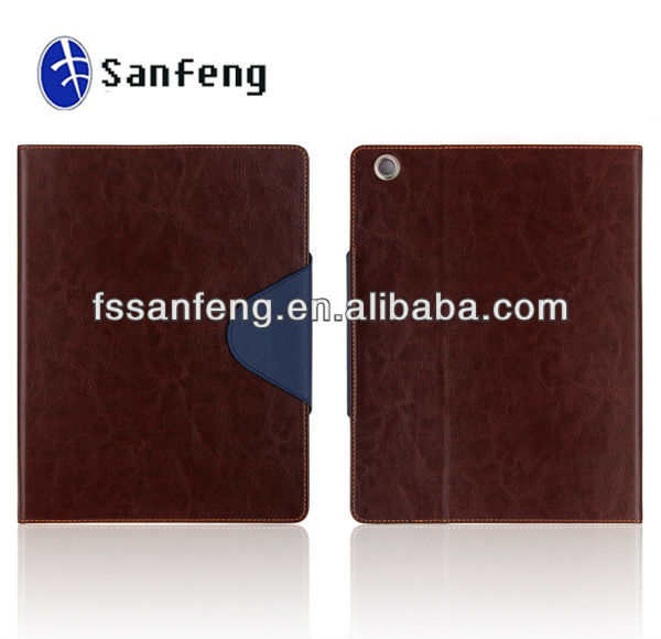 NEW stylish Leather protect phone Case Stand for apple ipad 2 3 4, for ipad accessory