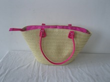 Tote Bag Style And Paper Straw Material Crochet Bag