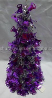 hot selling christmas ornament mini christmas table tinsel tree