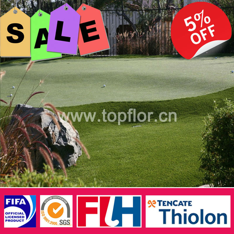 High simulation synthetic putting green for leisure place
