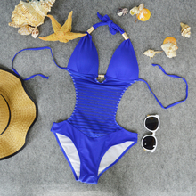 Ladies Full Open Sexy Fashion Models One Piece Bikini Swimwear