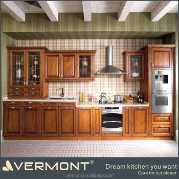 2017 High quality Wooden kitchen cabinet made in China(VT-SK-030)