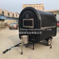 black 7.6*5.5ft 2016 big wheels sliding windows carts to sell fast food/food van for sale/fast food van for sale food truck.