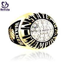 Pave setting cz men football champions pt900 artificial diamond ring sample