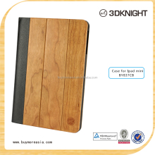 Wholesale Wooden Pattern PU Leather Cover Case For iPad mini