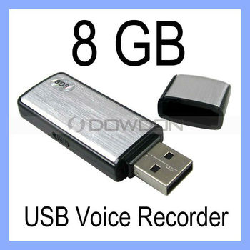 Mini USB Drive Flash Memory Stick 8GB Digital Voice Recorder USB Dictaphone