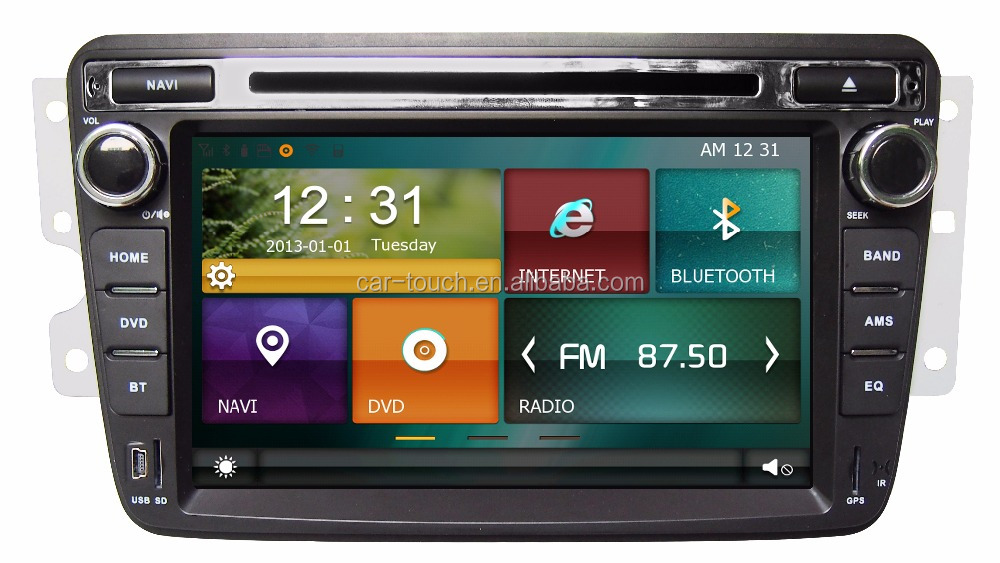 Digital 7'' Car Stereo Sat Nav , In Dash Car GPS Navigation System for Dongfeng S30