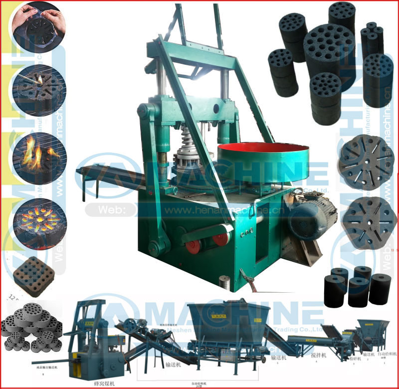 Long burning large coking coal briquette making machine(diameter: 30-200mm)