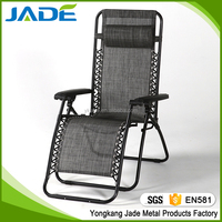 Luxury modern stackable garden sling chair folding anti-gravity chair chaise lounge chair outdoor