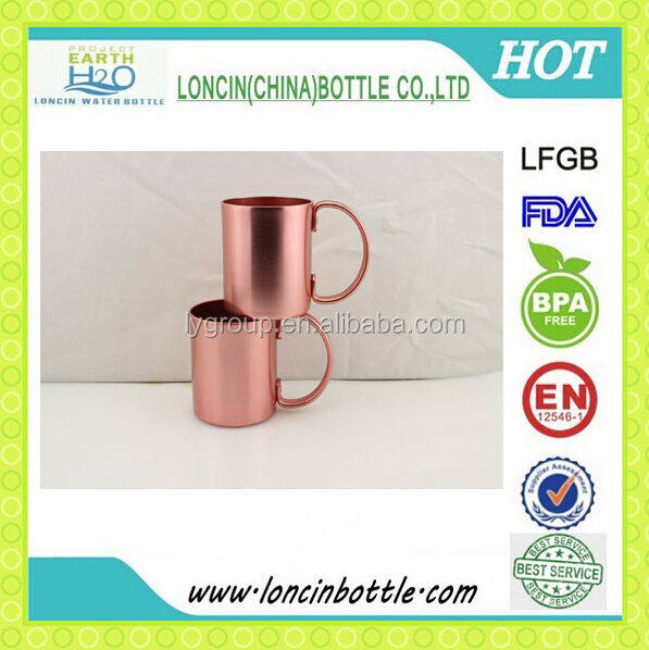 bpa free moscow mule aluminum copper mug/New style 380ml aluminum moscow vodka copper cup