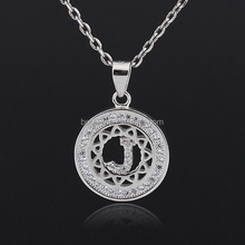2016 silver fashion annulus letter J jewelry necklace for boys girls parties