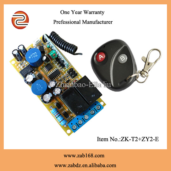 learning code 220v wireless remote motor control , gate door remote control switch(ZK-T2+ ZY2-E)