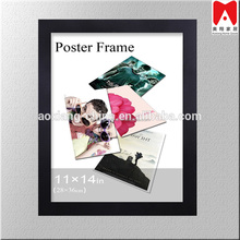 Wholesale Simple 4X6 Black Wood poster picture frame 60Cm * 90Cm for wall Free modern photo frame