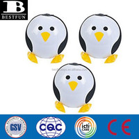 penguin shape inflatable beach balls customized plastic animal shape water balls novelty toys