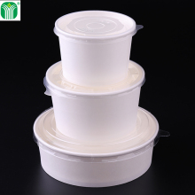china supplier custom Logo Printed 1500ml 48oz super size disposable paper salad bowl