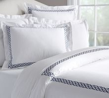 White Cotton Embroidered Queen Size Bed Sheet In A Bag Set