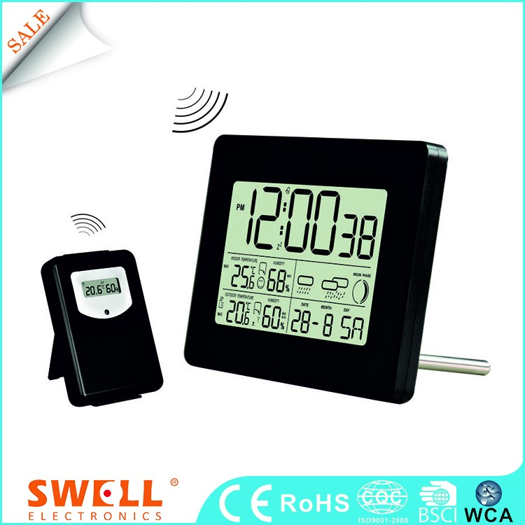 Wholesale Wireless Weather Station Table Rf433mhz Outdoor Temperature And Humidity Superior Clock