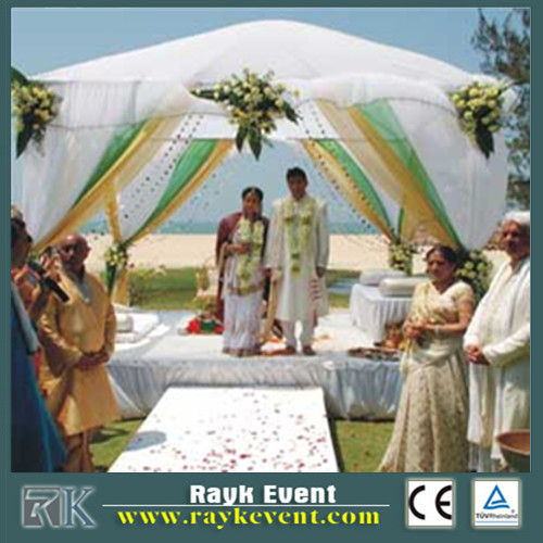 Indian wedding backdrop mandap designs Portable Telescopic Pipe and drape stand