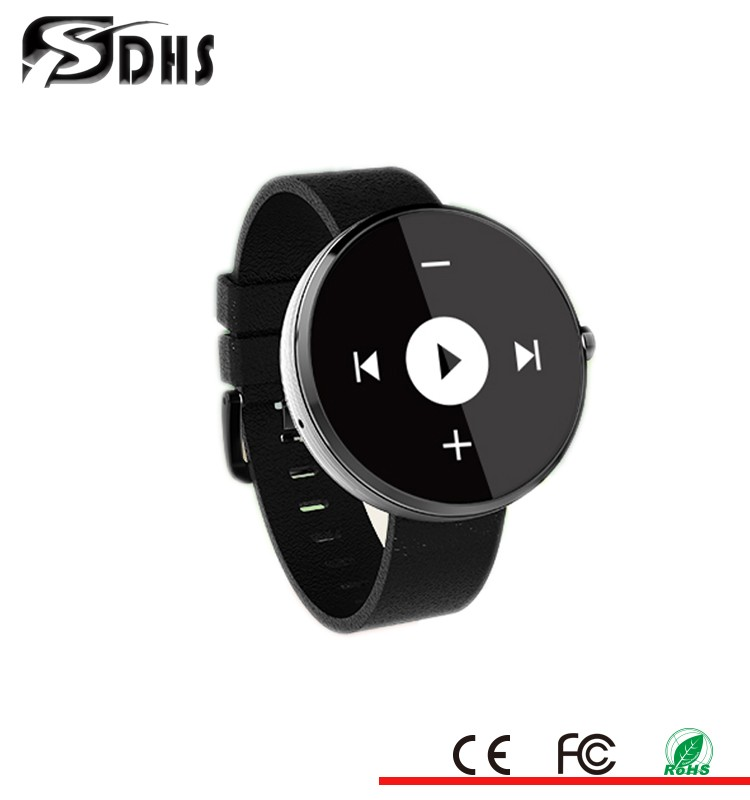 2016 CE/Rohs Bluetooth IPS screen leather belt Andriod IOS LED custom leather belt smart hand watch mobile phone