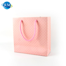 Rongmei New Arrival Pink Customized Logo Decorative Paper Tote Bags