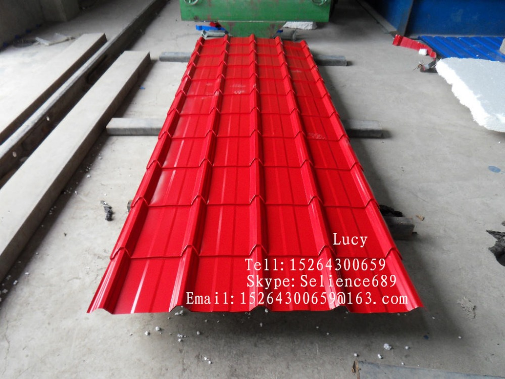 galvanized corrugated steel plate/zinc roofing steel sheet/color steel tile