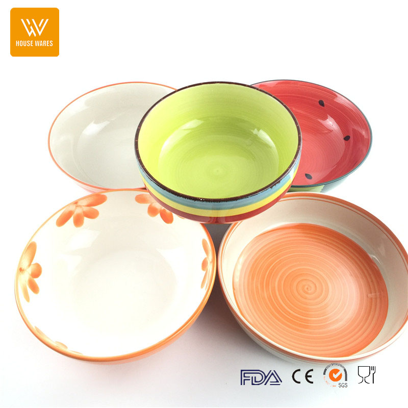 large ceramic bowls 2017 hot sell in etsy/amazon,japanese rice and fruit bowl set