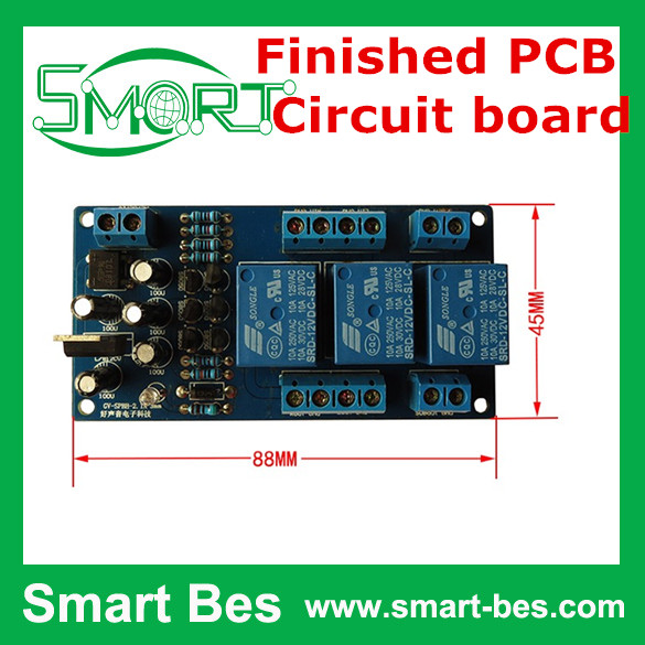SmartBes 2.1 sound channel computer speakers subwoofer voice box guard plate,power on delay protector,high-power finished PCB