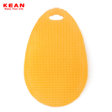 High quality food grade silicone plastic dish scrubber