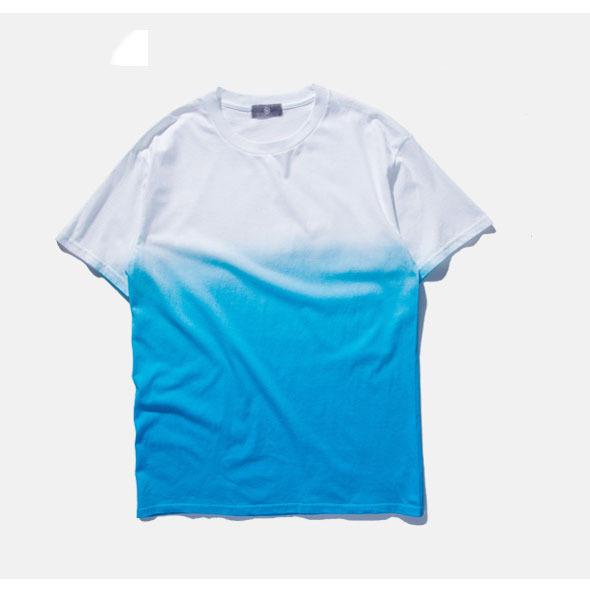 Tie dye hip hop fashion white tshirt custom t shirt