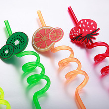 Food Grade DIY fruit Plastic decorative straws for party