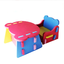 Wholesale High Quality EVA Foam Table and Chair Furniture Set for Kids, Kids Folding Table and Chair Set