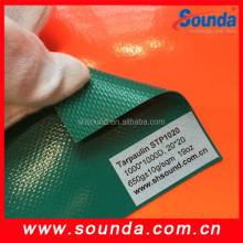 Fire retardant 650g/sqm Coated PVC tarpaulin apply to tent and truck cover