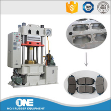 electric / oil heating brake pads molding press / rubber platen vulcanizer