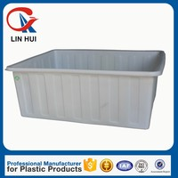 800L water storage tank Strong open top containment basin with bottom price moving plant pot dolly for hospital