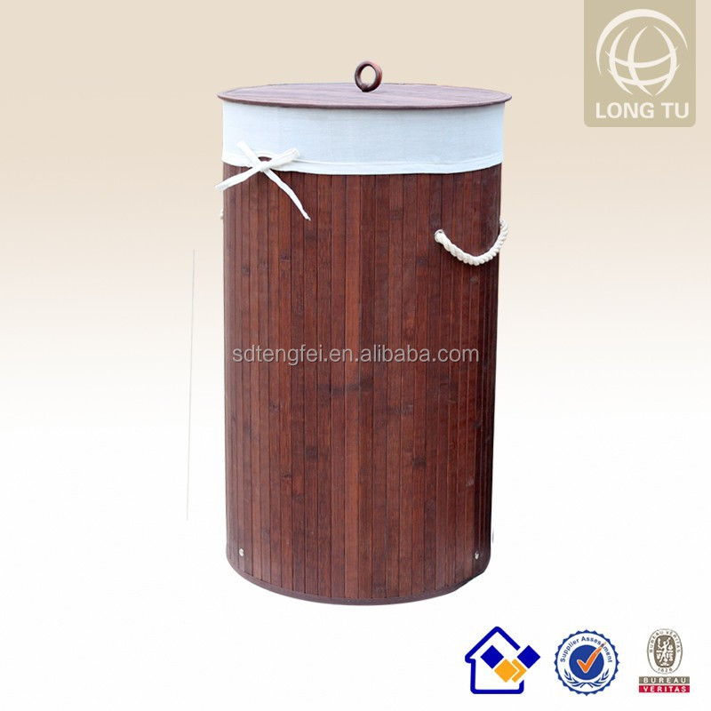 Attracktive KD Foldable Bamboo Laundry hamper/laundry basket