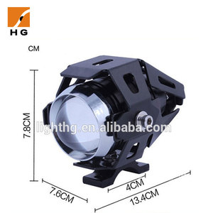 Wholesale 15w 2.2'' led motorcycle spotlights lights U5 motorcycle led driving lights