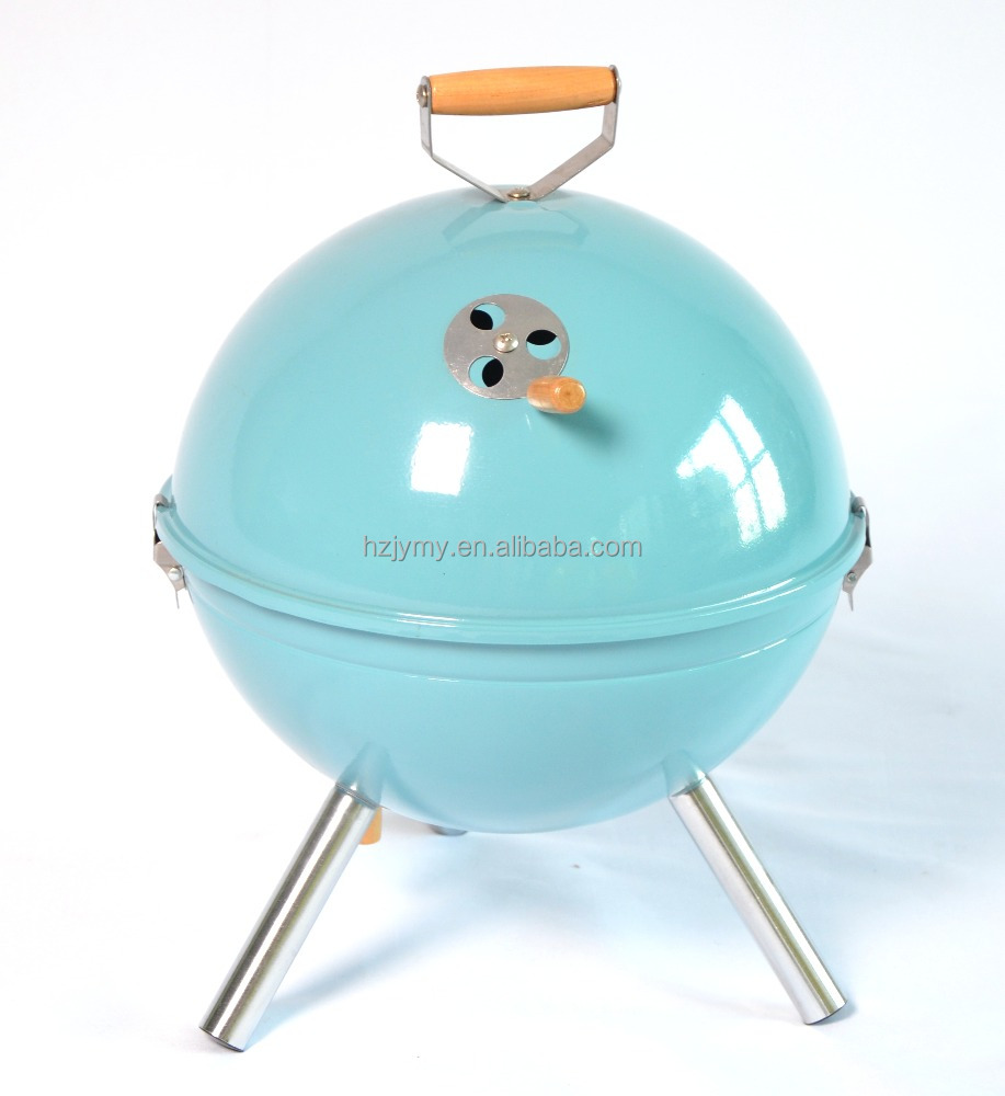 Mini Portable Powder Plated BBQ Charcoal Ball Grill