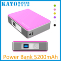 5200mAh colorful power bank for mobile phone