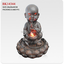 Resin buddha fountains for home decotation