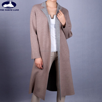 Ladies' Suit Collar Two Sided Knitted Overcoat CWSW15101105L