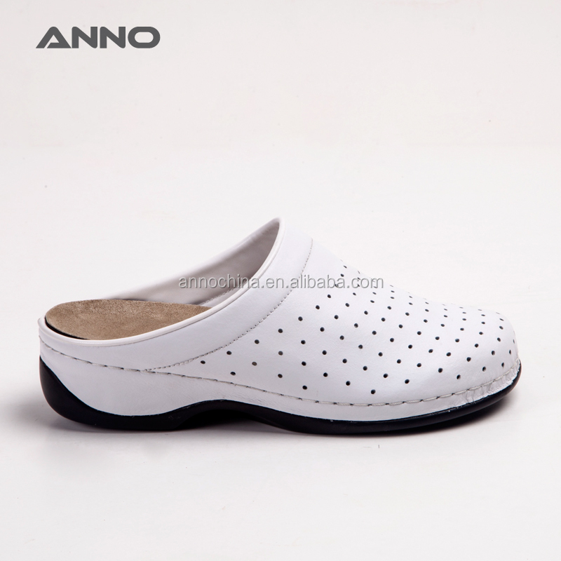 Anno ventilated nurse work leather clogs shoes