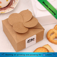 small custom made kraft cookie paper boxes