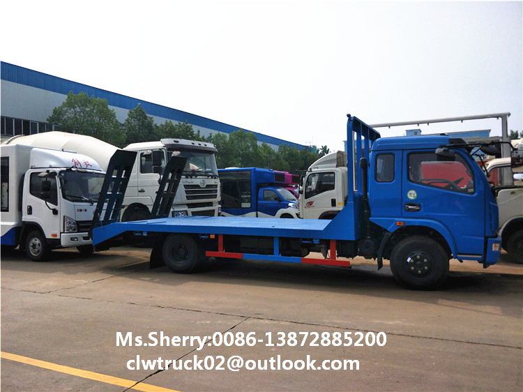 Factory wholesale price Dongfeng Duolika Flat bed Excavator Truck