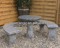 Out door Garden Furniture including stone table and benches