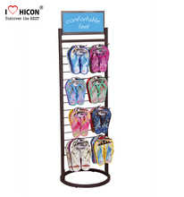 Capturing Customers Metal Hooks Shoe Store Display Rack For Slippers Display Stand Supermarket